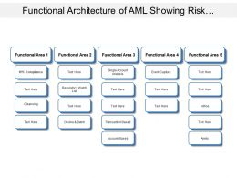 Functional Architecture Of Aml Showing Risk Categorization Scanning And Reporting