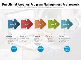 Functional Area For Program Management Framework