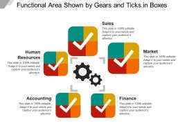 Functional Area Shown By Gears And Ticks In Boxes