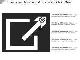Functional Area With Arrow And Tick In Gear