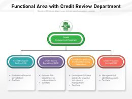 Functional Area With Credit Review Department