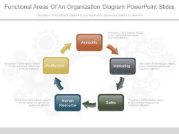 Functional Areas Of An Organization Diagram Powerpoint Slides