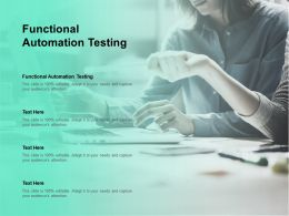 Functional Automation Testing Ppt Powerpoint Presentation Icon Ideas Cpb