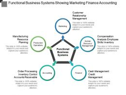 Functional Business Systems Showing Marketing Finance Accounting