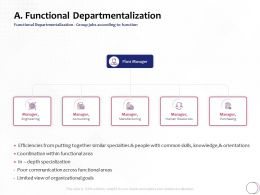 Functional Departmentalization Goals Ppt Powerpoint Presentation File