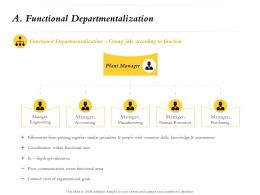Functional Departmentalization With Common Ppt Powerpoint Presentation File Clipart