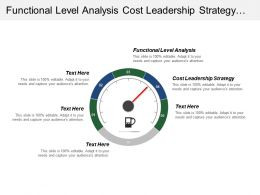 Functional Level Analysis Cost Leadership Strategy Renewal Strategy