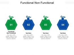 Functional Non Functional Ppt Powerpoint Presentation Inspiration Layouts Cpb