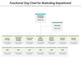 Functional Org Chart For Marketing Department