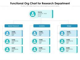 Functional Org Chart For Research Department