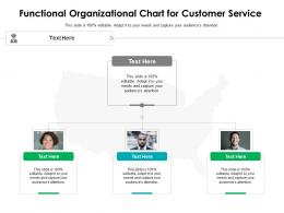Functional Organizational Chart For Customer Service Infographic Template