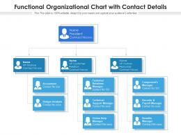 Functional Organizational Chart With Contact Details