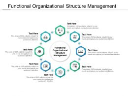 Functional Organizational Structure Management Ppt Powerpoint Presentation Model Topics Cpb