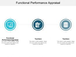 Functional Performance Appraisal Ppt Powerpoint Presentation Infographics Master Slide Cpb