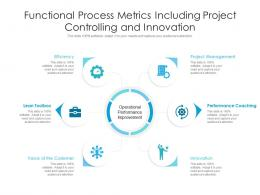 Functional Process Metrics Including Project Controlling And Innovation Infographic Template