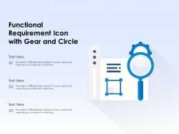 Functional Requirement Icon With Gear And Circle