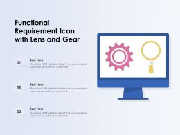 Functional Requirement Icon With Lens And Gear