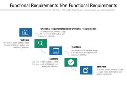 Functional Requirements Non Functional Requirements Ppt Powerpoint Presentation Cpb