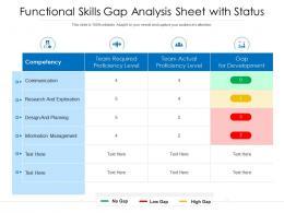 Functional Skills Gap Analysis Sheet With Status