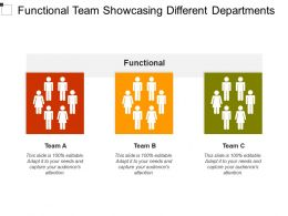 Functional Team Showcasing Different Departments