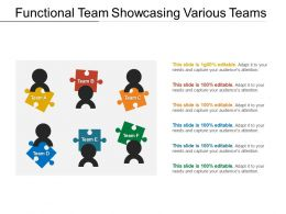 Functional Team Showcasing Various Teams
