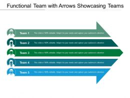 Functional Team With Arrows Showcasing Teams
