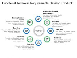 Functional Technical Requirements Develop Product Service Release Marketing Production