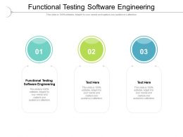 Functional Testing Software Engineering Ppt Powerpoint Presentation Visual Aids Infographics Cpb