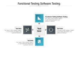Functional Testing Software Testing Ppt Powerpoint Presentation Pictures Topics Cpb