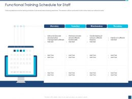 Functional Training Schedule For Staff About Software Ppt Powerpoint Presentation File Slides