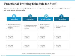 Functional Training Schedule For Staff Webinar Ppt Powerpoint Presentation File Rules