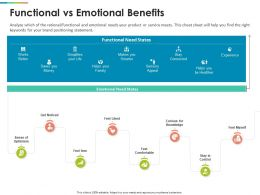 Functional Vs Emotional Benefits Experience Ppt Graphics Template