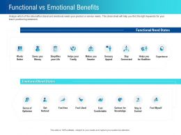 Functional Vs Emotional Benefits Life Ppt Powerpoint Presentation Slides Introduction