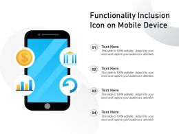 Functionality Inclusion Icon On Mobile Device