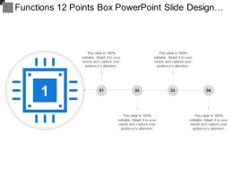 Functions 12 Points Box Powerpoint Slide Design Templates