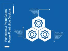 Functions 3 Point Gears Powerpoint Slide Designs