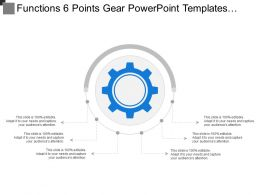 Functions 6 Points Gear Powerpoint Templates Download