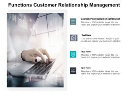 Functions Customer Relationship Management Ppt Powerpoint Styles Diagrams Cpb