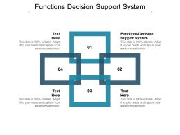 Functions Decision Support System Ppt Powerpoint Presentation Slides Portrait Cpb