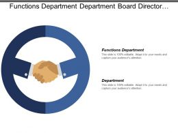Functions Department Department Board Director Information System Business Challenges