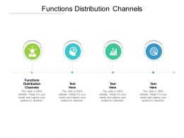 Functions Distribution Channels Ppt Powerpoint Presentation Visual Aids Ideas Cpb