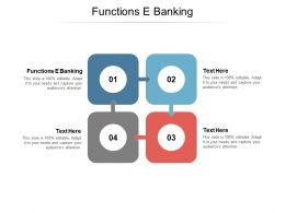 Functions E Banking Ppt Powerpoint Presentation Outline Samples Cpb