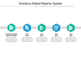 Functions Federal Reserve System Ppt Powerpoint Presentation Model Show Cpb