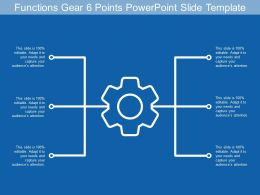 Functions Gear 6 Points Powerpoint Slide Template