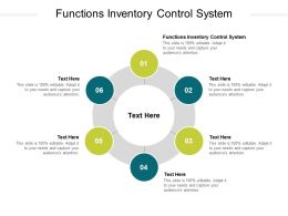 Functions Inventory Control System Ppt Powerpoint Presentation Infographics Design Templates Cpb