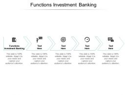 Functions Investment Banking Ppt Powerpoint Presentation Professional Gallery Cpb