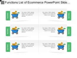 Functions List Of Ecommerce Powerpoint Slide Templates