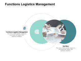 Functions Logistics Management Ppt Powerpoint Presentation Inspiration Cpb