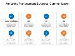 Functions Management Business Communication Ppt Powerpoint Model Cpb