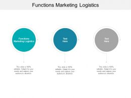 Functions Marketing Logistics Ppt Powerpoint Presentation Outline Format Cpb